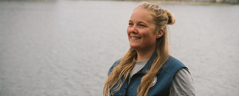 Naturvejleder og undervisningsansvarlig i Maritime Nyttehaver Bodil Sofie Espersen på Bølgemarken i København
