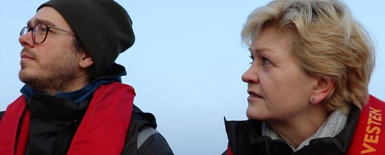 Joachim Hjerl og Eva Kjer Hansen på besøg i Sønderborg