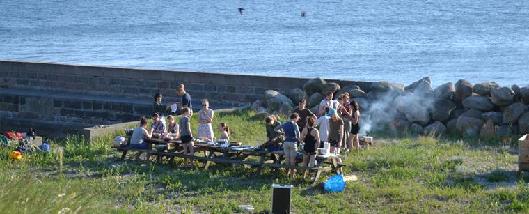 Arrangement på Ungdomsøen i foirbindelse med Havhøsts projekt Den Spiselige Ungdomsø